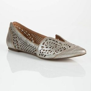 Anthro Gee WaWa 7.5 Lydia Leather Flats Shoes